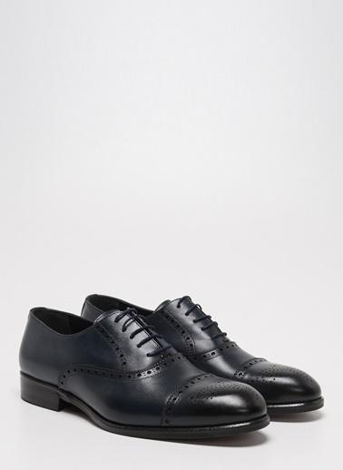 D by Divarese Deri Klasik Ayakkabı Lacivert